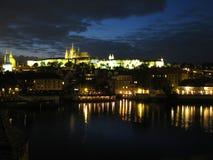 Europa, Czechia, Prag bis zum Nacht stockbild