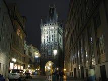Europa, Czechia, Praga na noite Foto de Stock Royalty Free