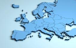 Europa 3D vektor illustrationer