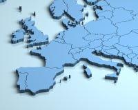 Europa 3D royaltyfri illustrationer