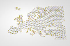 Europa 3D stock illustrationer