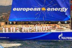 Europa 2 de Esimit el ganador de la regata de 46° Barcolana, Triest Imagenes de archivo