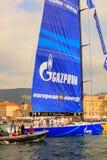 Europa 2 de Esimit o vencedor da regata de 46° Barcolana, Triest fotografia de stock royalty free