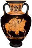Europa de la ánfora y el toro Imagen de archivo libre de regalías