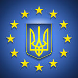 Europa & de Oekraïne Royalty-vrije Stock Foto's