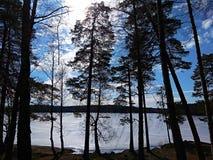 Europa del lago scandinavia Svezia della natura fotografia stock