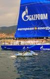Europa 2 di Esimit il vincitore della regata di 46° Barcolana, Triest Fotografie Stock Libere da Diritti