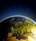 Europa do espaço ilustração stock