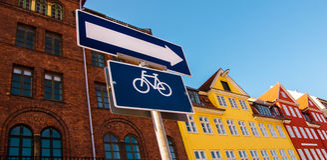 Europa durch Fahrrad Lizenzfreies Stockfoto