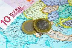 Europa e euro- moedas Fotos de Stock Royalty Free