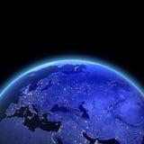 Europa e l'Asia 3d rendono Fotografie Stock