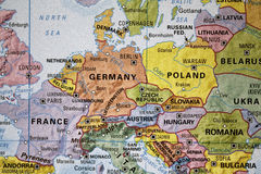 Europa em um mapa imagens de stock royalty free