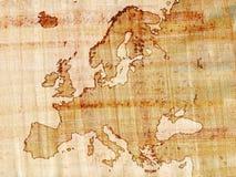 Europa en el papiro Imagenes de archivo
