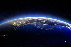 Europa en Noord-Afrika Elements van dit beeld dat door NAS wordt geleverd Stock Afbeeldingen