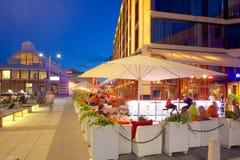 Europa, Escandinavia, Suecia, Goteburgo, restaurante en Vallgatan en la oscuridad Fotos de archivo libres de regalías