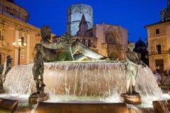 Europa, España, Valencia, cente de la ciudad Imágenes de archivo libres de regalías