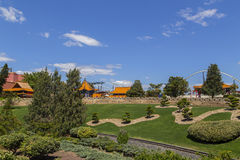 Europa, Espanha, parque de diversões Fotografia de Stock