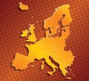 Europa EU kartlägger med landsgränser Royaltyfri Fotografi