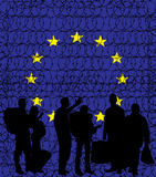 Europa (Europäische Gemeinschaft) seine Grenzen wegen des Wander- crisi schließend Stockfoto