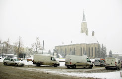 Europa extrem vinter Arkivbilder