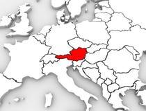 Europa för översikt för Österrike landsabstrakt begrepp 3D kontinent stock illustrationer