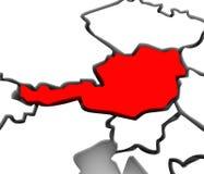Europa för översikt för abstrakt begrepp för Österrike land 3D kontinent stock illustrationer
