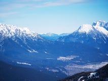 Europa för alpint landskap för berg österrikisk vinter Royaltyfri Foto