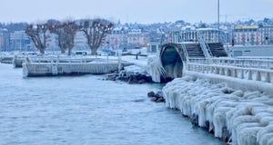 Europa för cold 2012 knäpp Arkivbilder