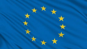 Europa flagga stock video