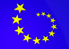 Europa flagga Arkivbilder