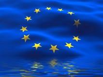 Europa flaggaunion Royaltyfria Bilder