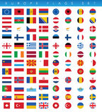 Europa-Flaggen eingestellt Stockfoto