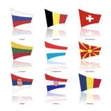 Europa-Flaggen, Vektor Lizenzfreie Stockbilder