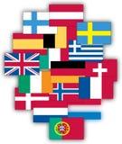 Europa flaggor Royaltyfri Bild