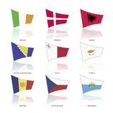 Europa flaggor, vektor Fotografering för Bildbyråer