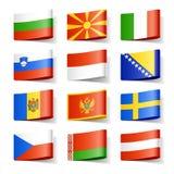 Europa flags världen stock illustrationer