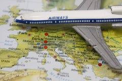 Europa flyg till Royaltyfri Fotografi
