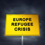 Europa flyktingkris stock illustrationer
