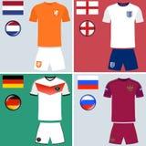 Europa-Fußball-Trikots Stockfotos