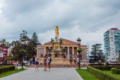 Europa fyrkant, Batumi royaltyfri bild