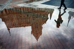Europa fyrkant i Batumi fotografering för bildbyråer