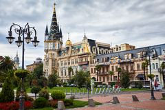 Europa fyrkant i Batumi royaltyfria foton