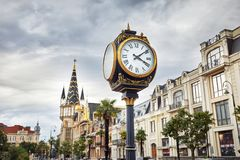 Europa fyrkant i Batumi arkivfoton