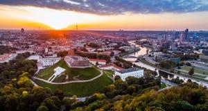 Europa gammal stad Vilnius arkivbild