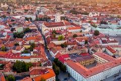 Europa gammal stad Vilnius fotografering för bildbyråer
