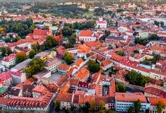 Europa gammal stad Vilnius arkivbilder
