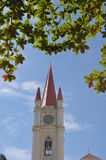 Europa-Gebäude des Glockenturms in abac Universitäts-bangna bangko Lizenzfreie Stockbilder