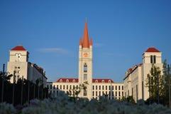 Europa-Gebäude des Glockenturms in abac Universitäts-bangna bangko Lizenzfreies Stockfoto