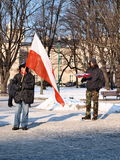 Europa gegen ACTA, Lublin, Polen Stockbilder