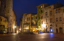 Europa gimignano italy san tuscany Royaltyfri Fotografi
